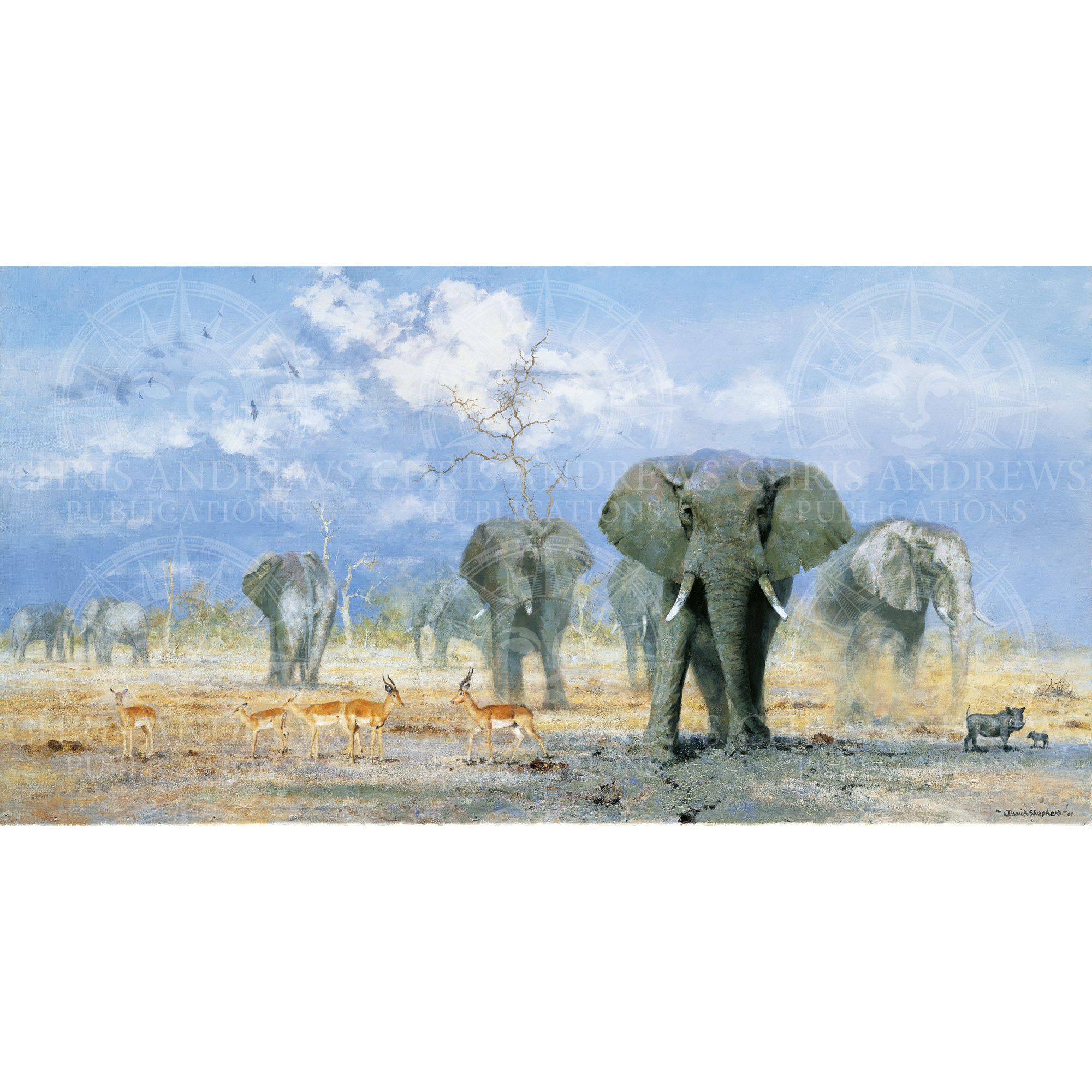 One of David Shepherd's paintings featured in the book