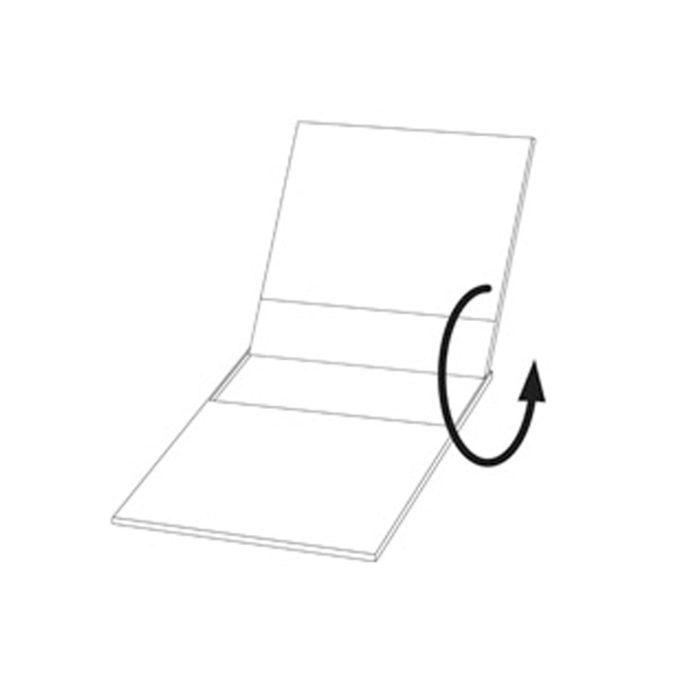 Desktop calendar flip case
