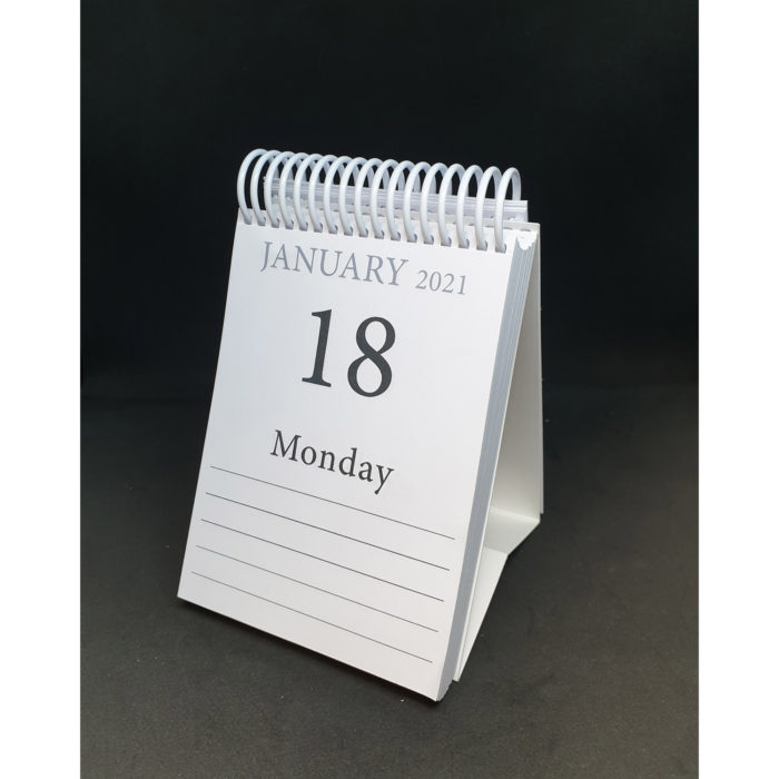 2021 Memory calendar - standing with dates showing