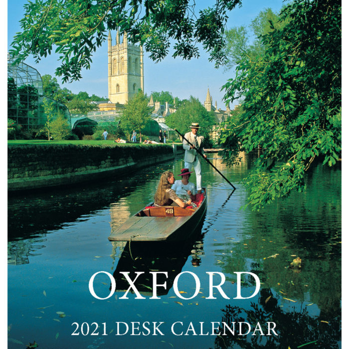 2021 Oxford mini desktop calendar - front cover