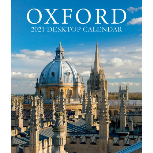 2021 Oxford large desktop calendar - front cover