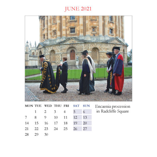2021 Oxford large desktop calendar - inside layout