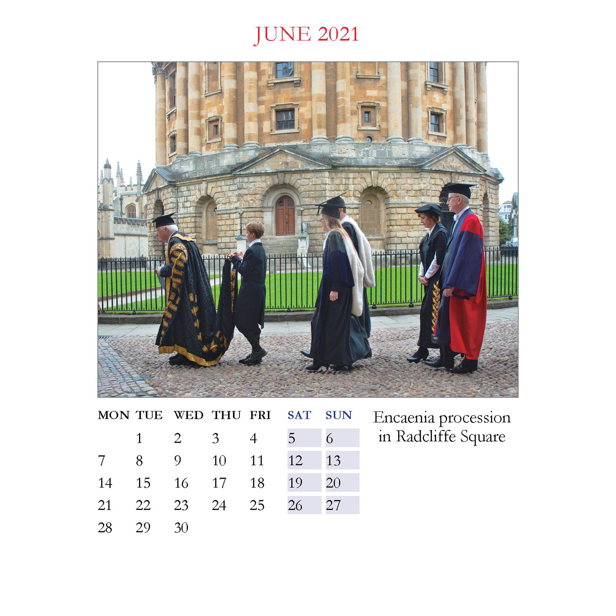 2021 Oxford large desktop calendar - inside layout