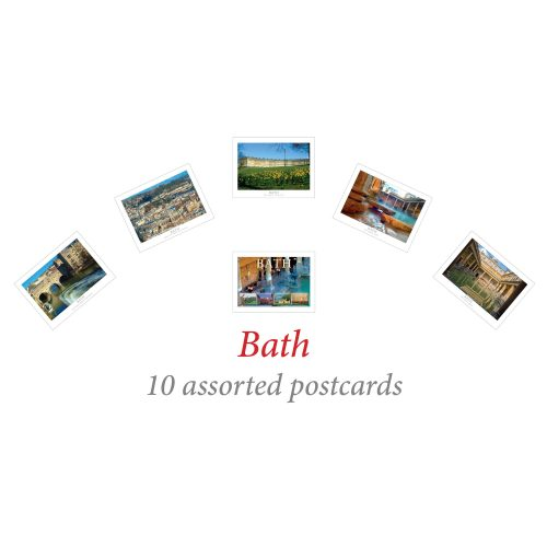 10 assorted Bath postcards