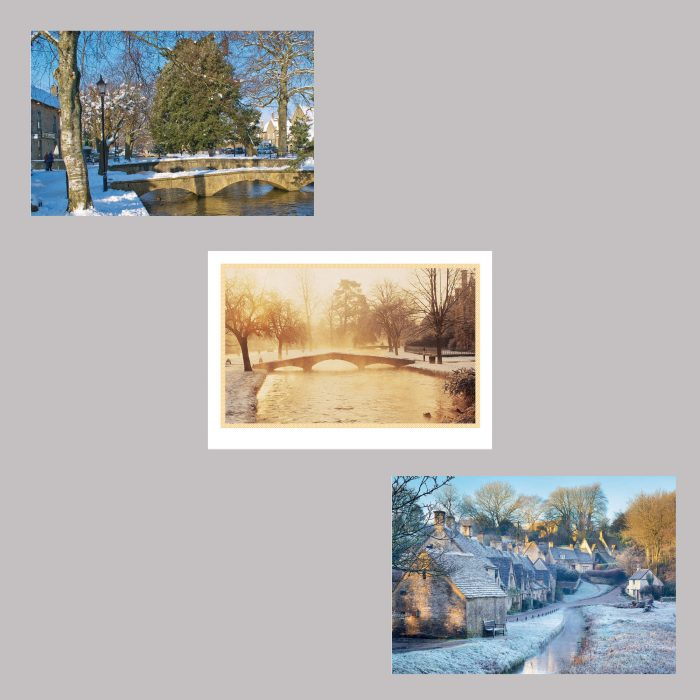 Pack Cotswolds winter folding cards