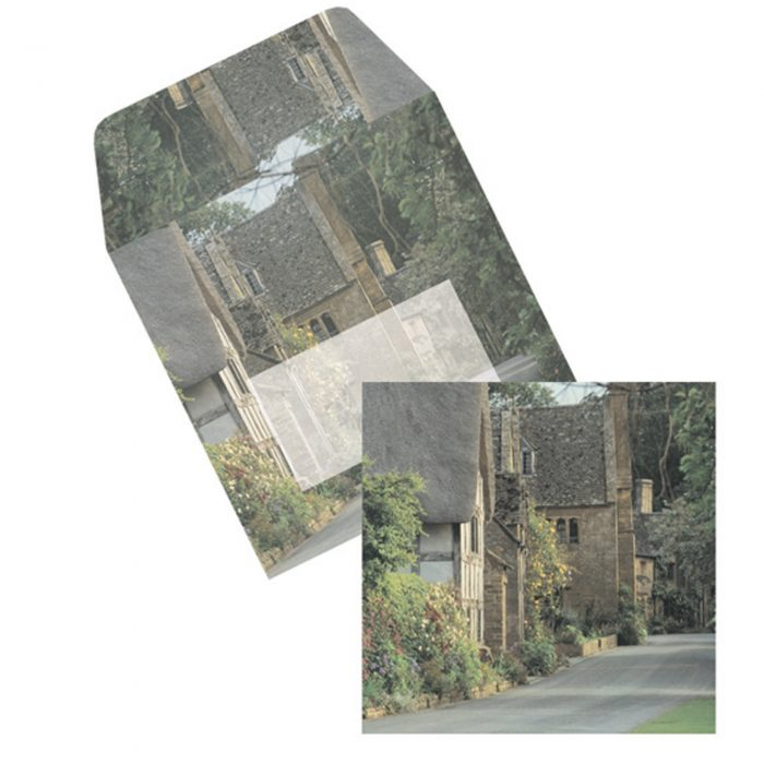 Cotswolds square cards & matching envelopes set