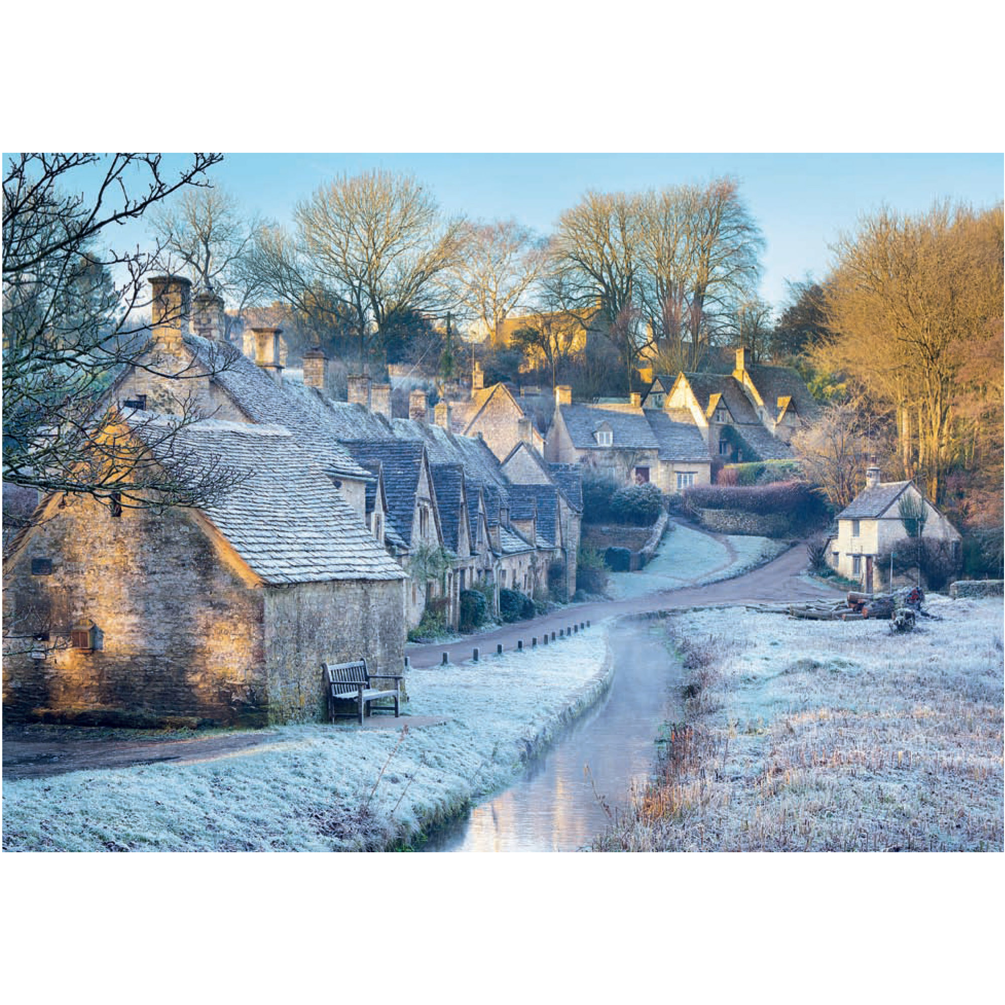 Cotswolds winter folding card