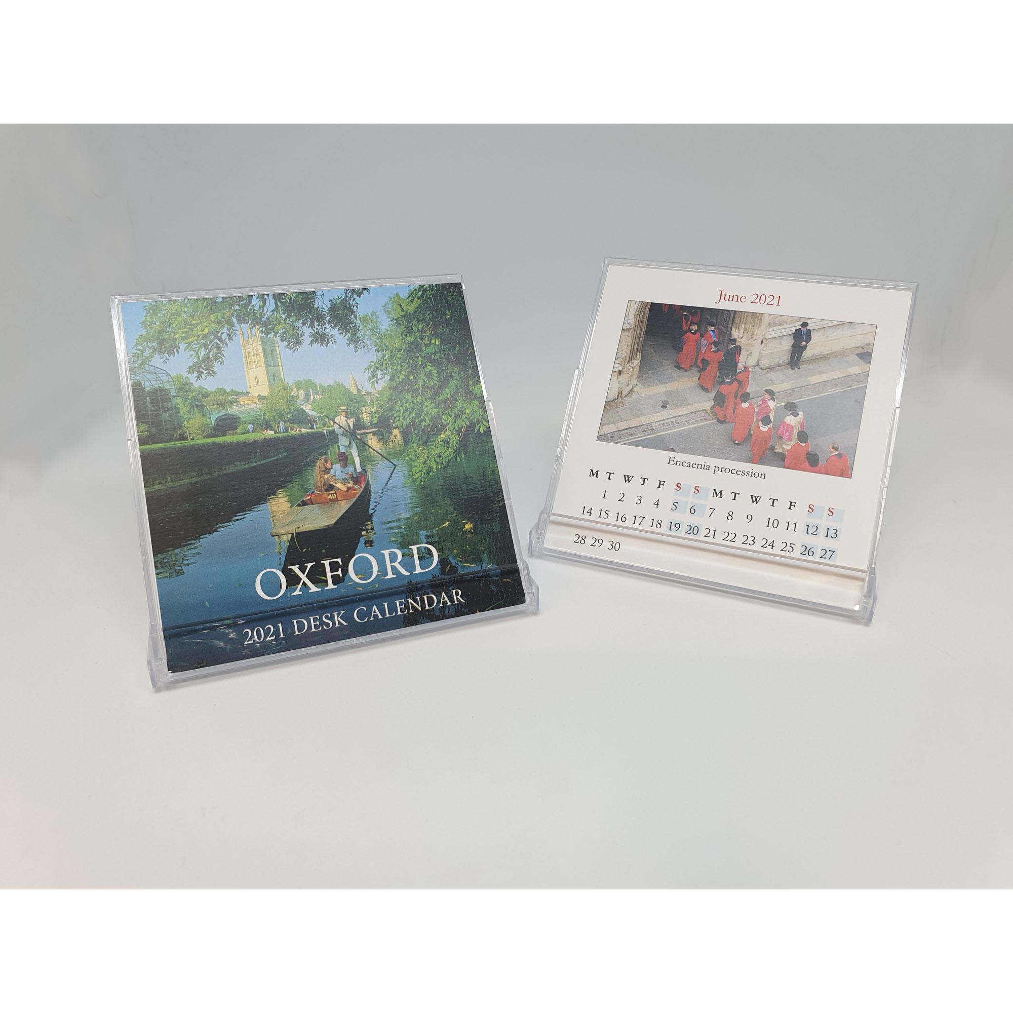 Open Oxford mini desktop calendar