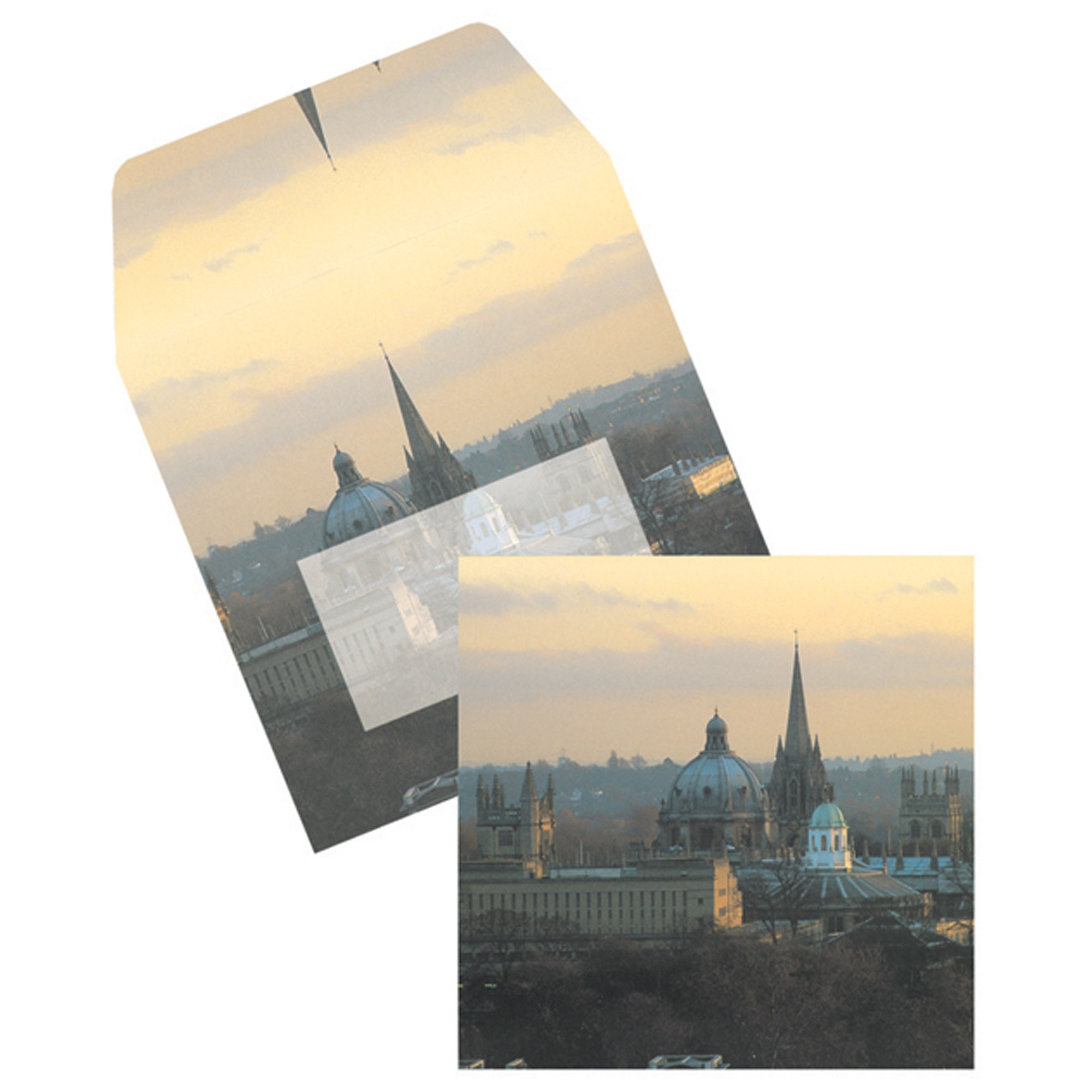 Oxford square cards & matching envelopes set