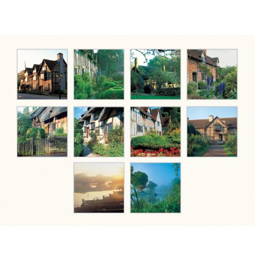 Stratford upon Avon square cards & matching envelopes set